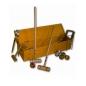 Grand jeu de croquet en malle - bois teinté merisier
