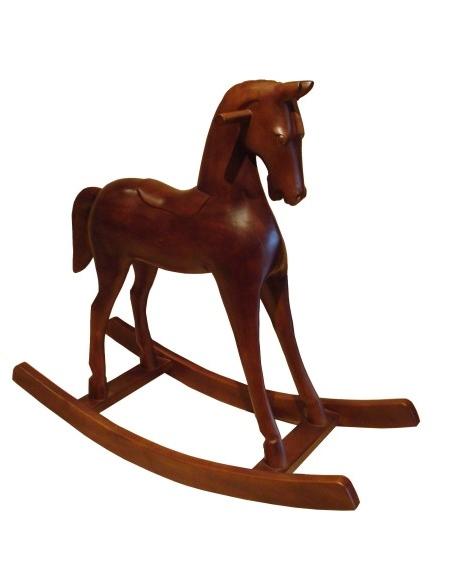 Cheval à bascule sculpté
